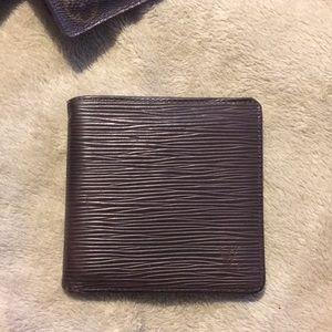 LV epi leather men's wallet